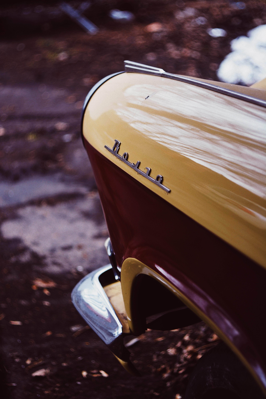 beige vehicle
