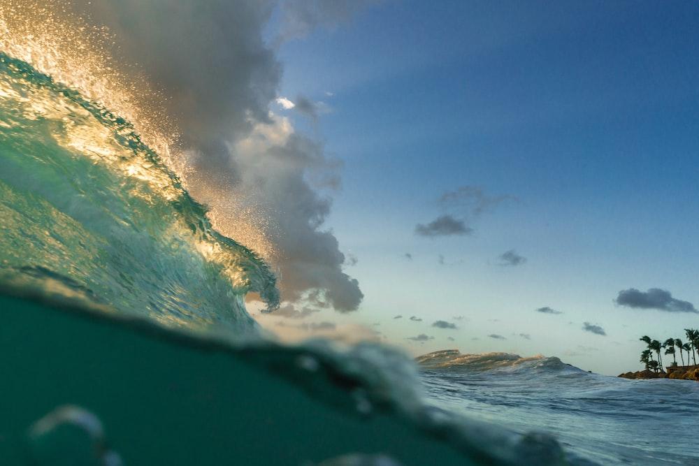 photo of beach under blue sky