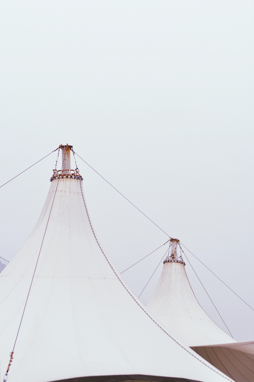 white fabric canopy