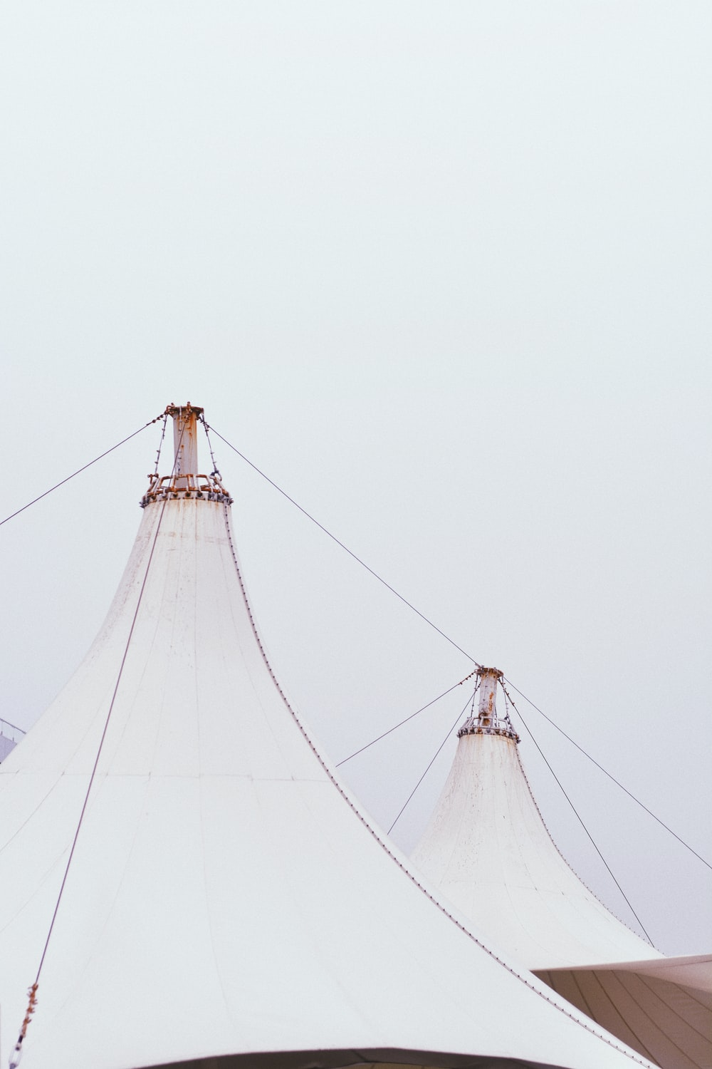 white fabric canopy