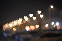 bokeh photography of city