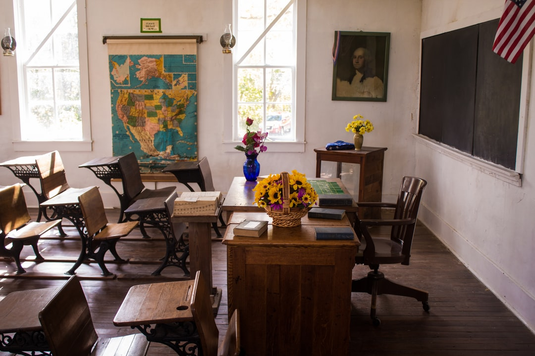 At Indian Cave State Park in Nebraska, there is a small village that has been restored, one building is an old-time schoolhouse – not much to look at from the outside but well-maintained inside.