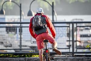 Radfahren auf einem Radweg