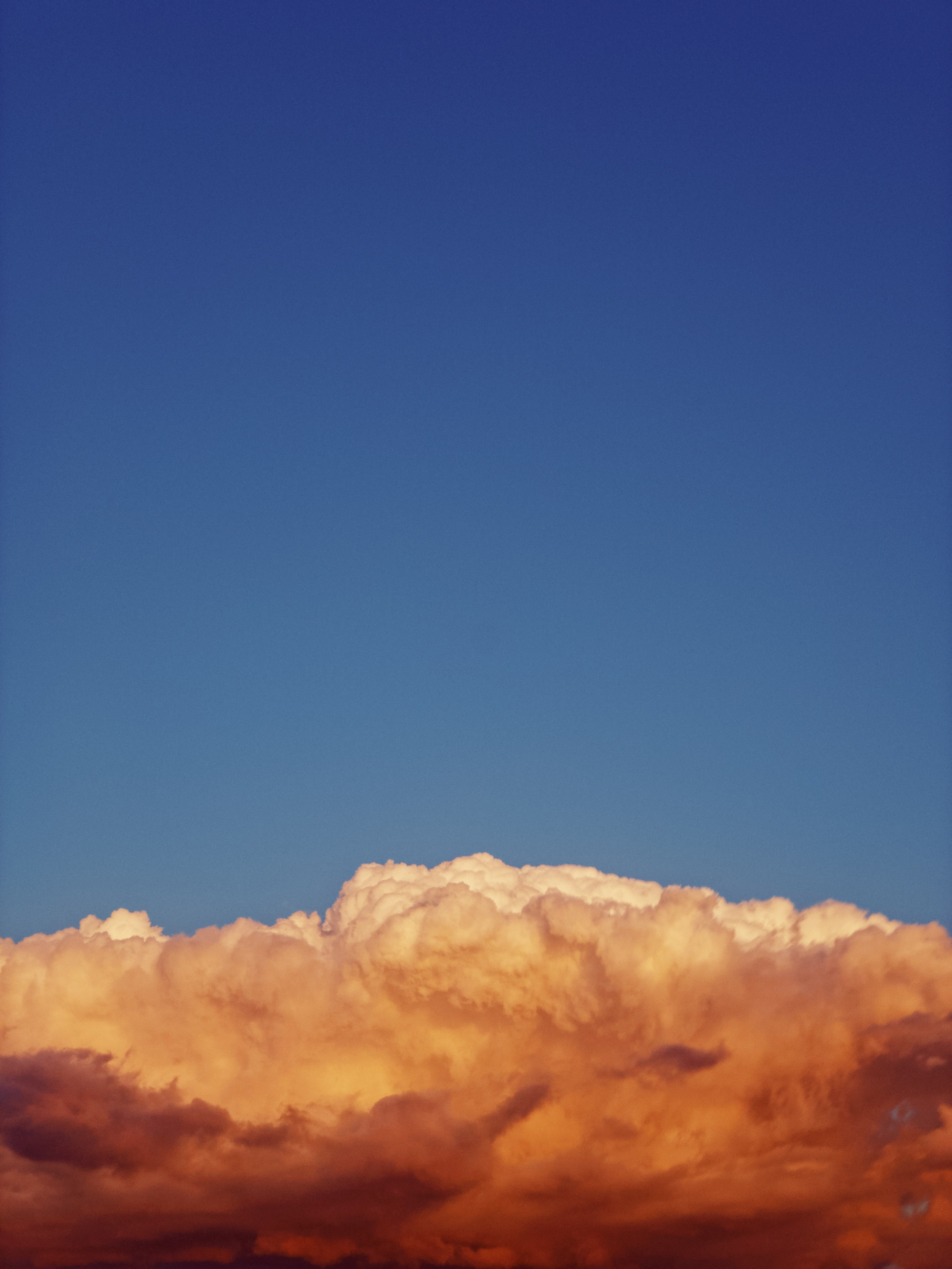 brown clouds and clear sky