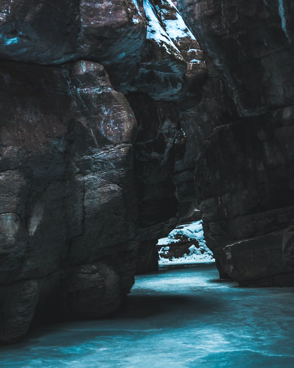 cave on body of water