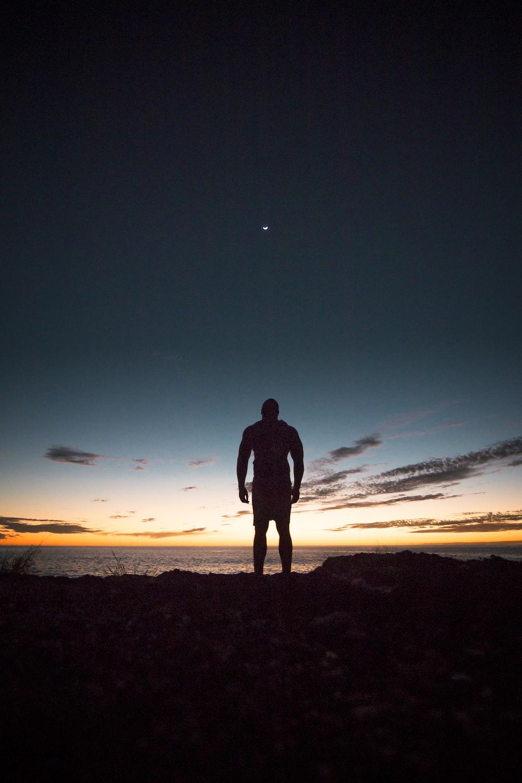 man standing on land