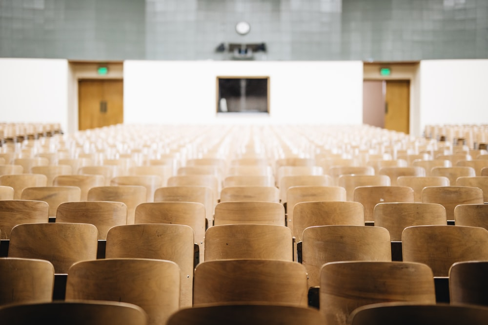 empty chairs in theater