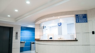 white concrete counter stand