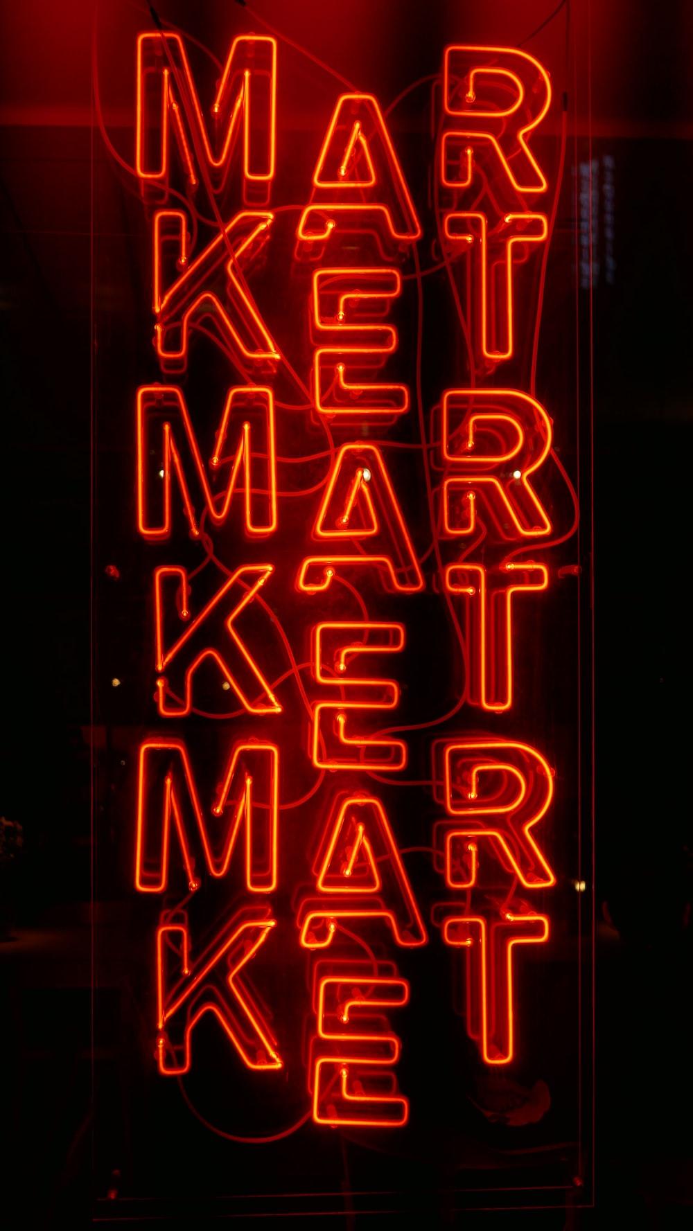 red market sign