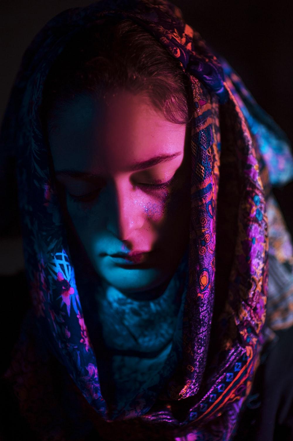 woman wearing hijab headscarf