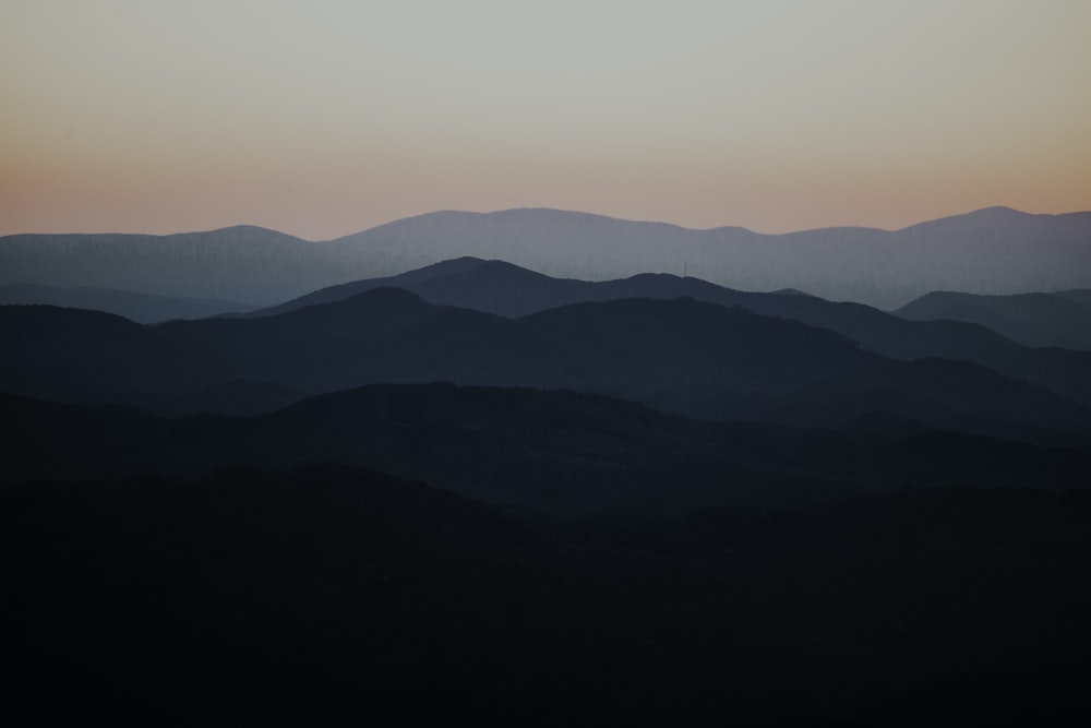 black and green mountain silhouette