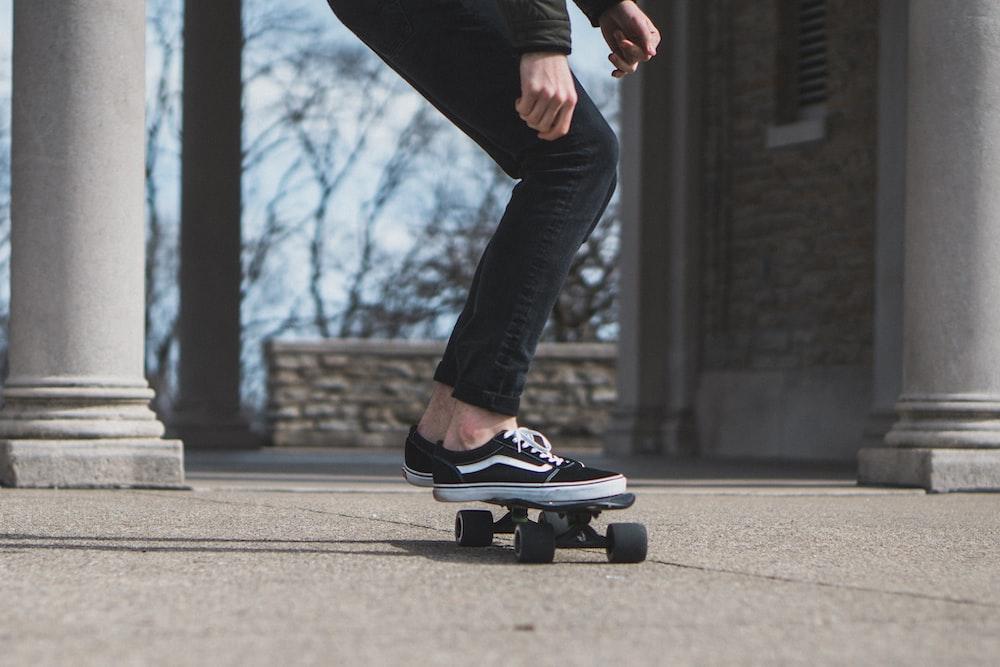 man skate boarding