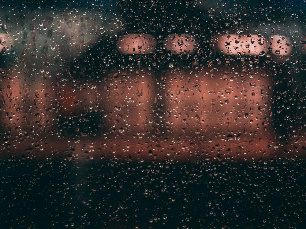 water drew on glass