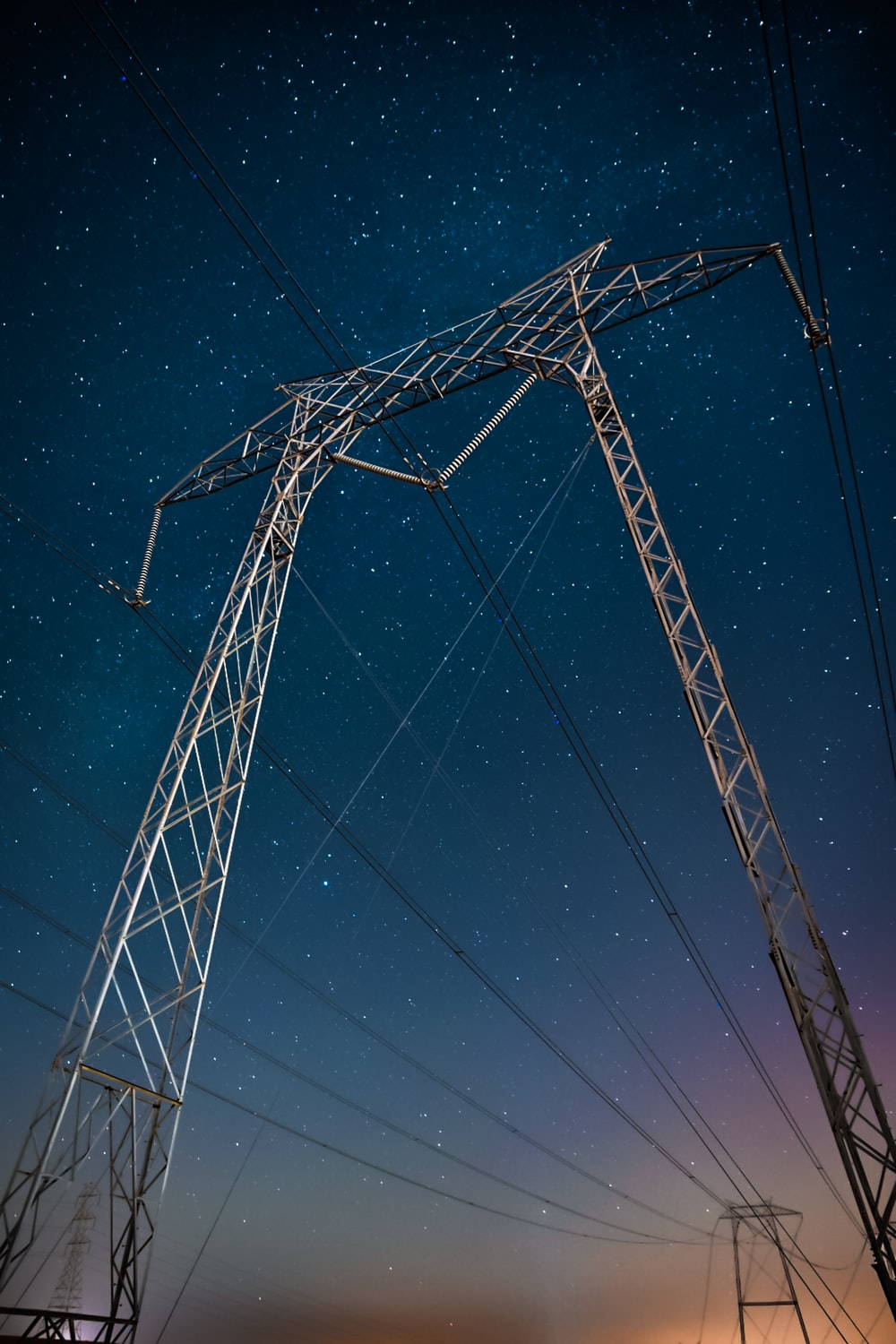 low angle photography of transmitter tower