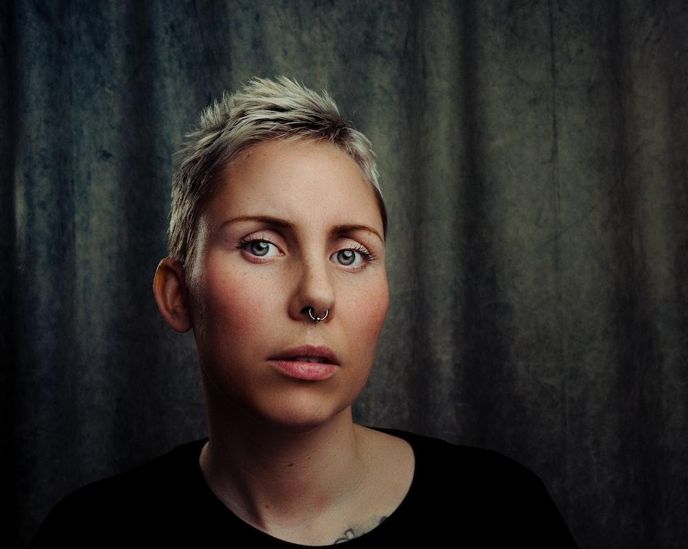 woman in black top photo
