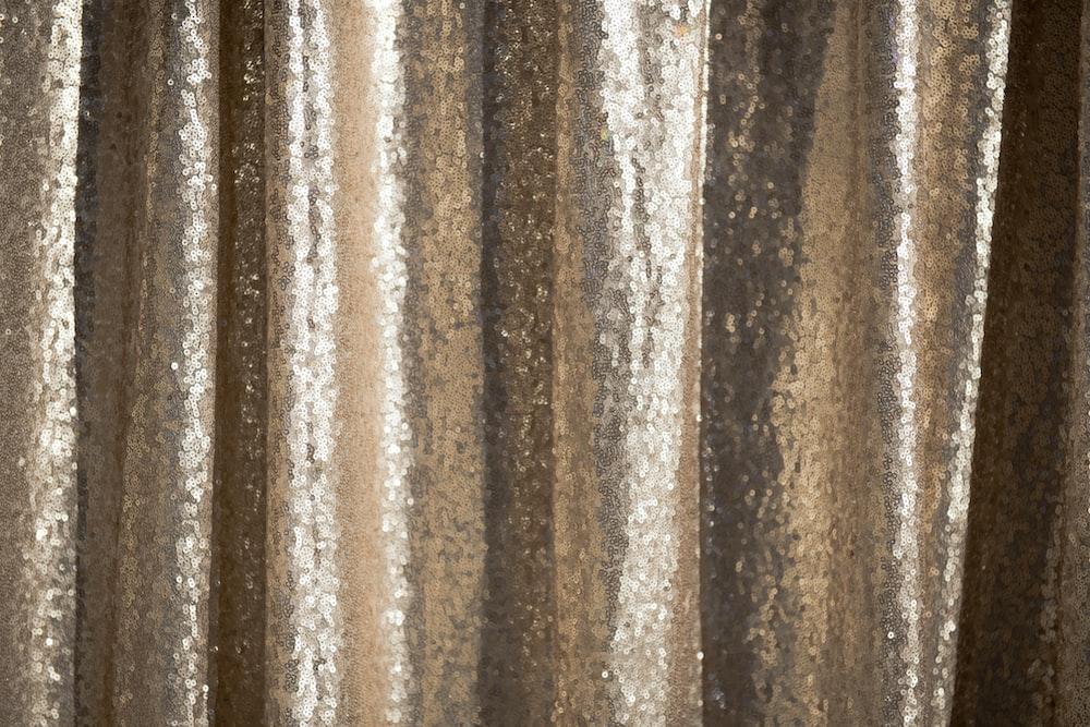 gold sequin textile