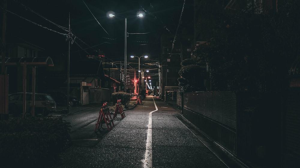 turned-on post beside road