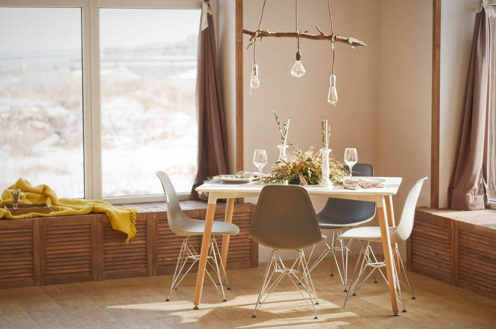 white wooden dining table set during daytime photo – Free ...