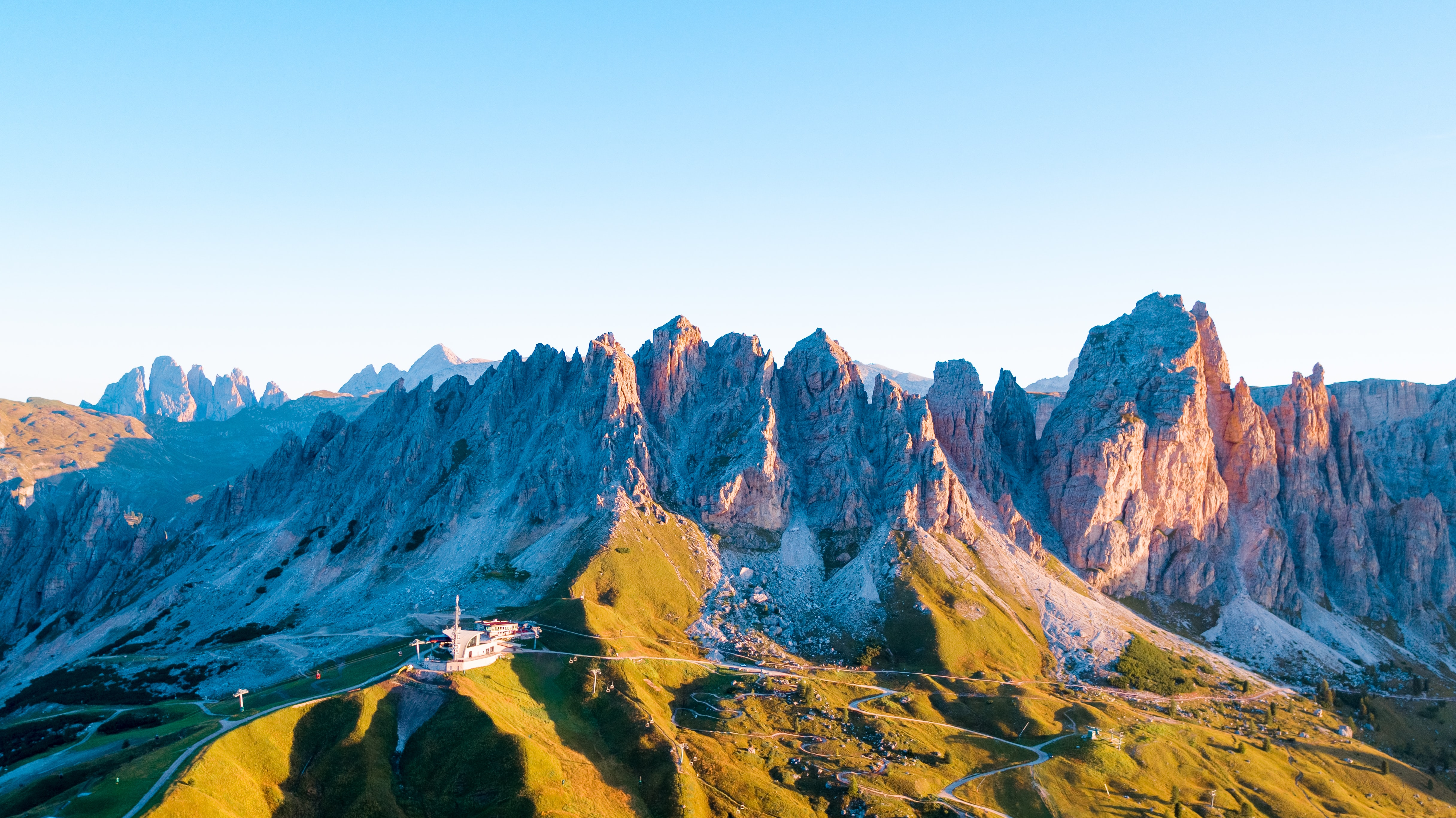 aerial view photography of mountain alps