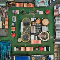aerial photography of circus