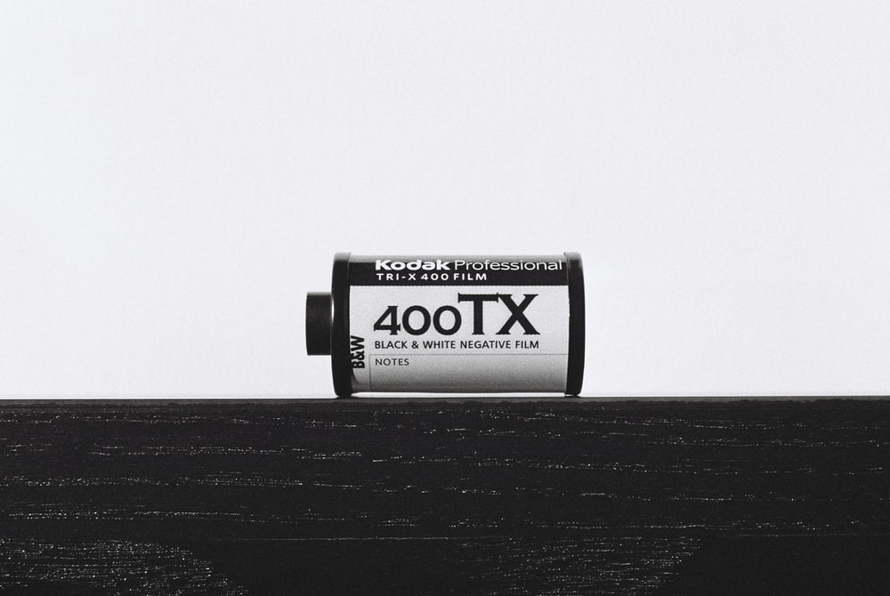 white and black Kodak Professional 400TX film