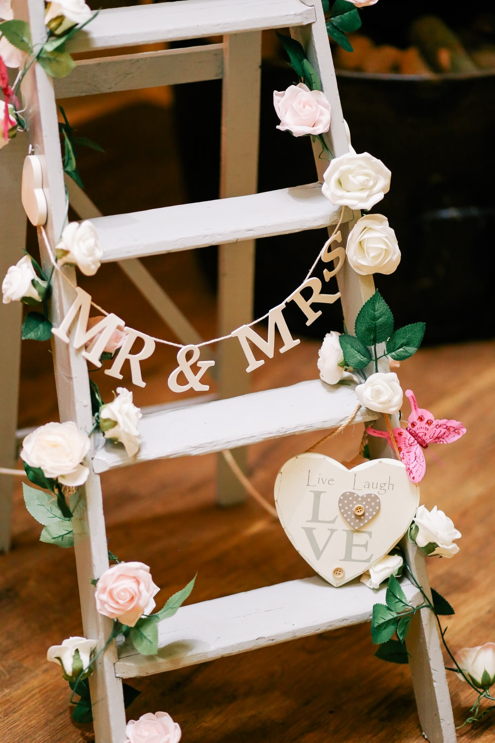 Mr. & Mrs. ladder decor
