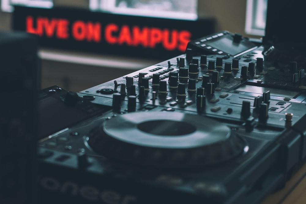 selective focus photography of DJ controller