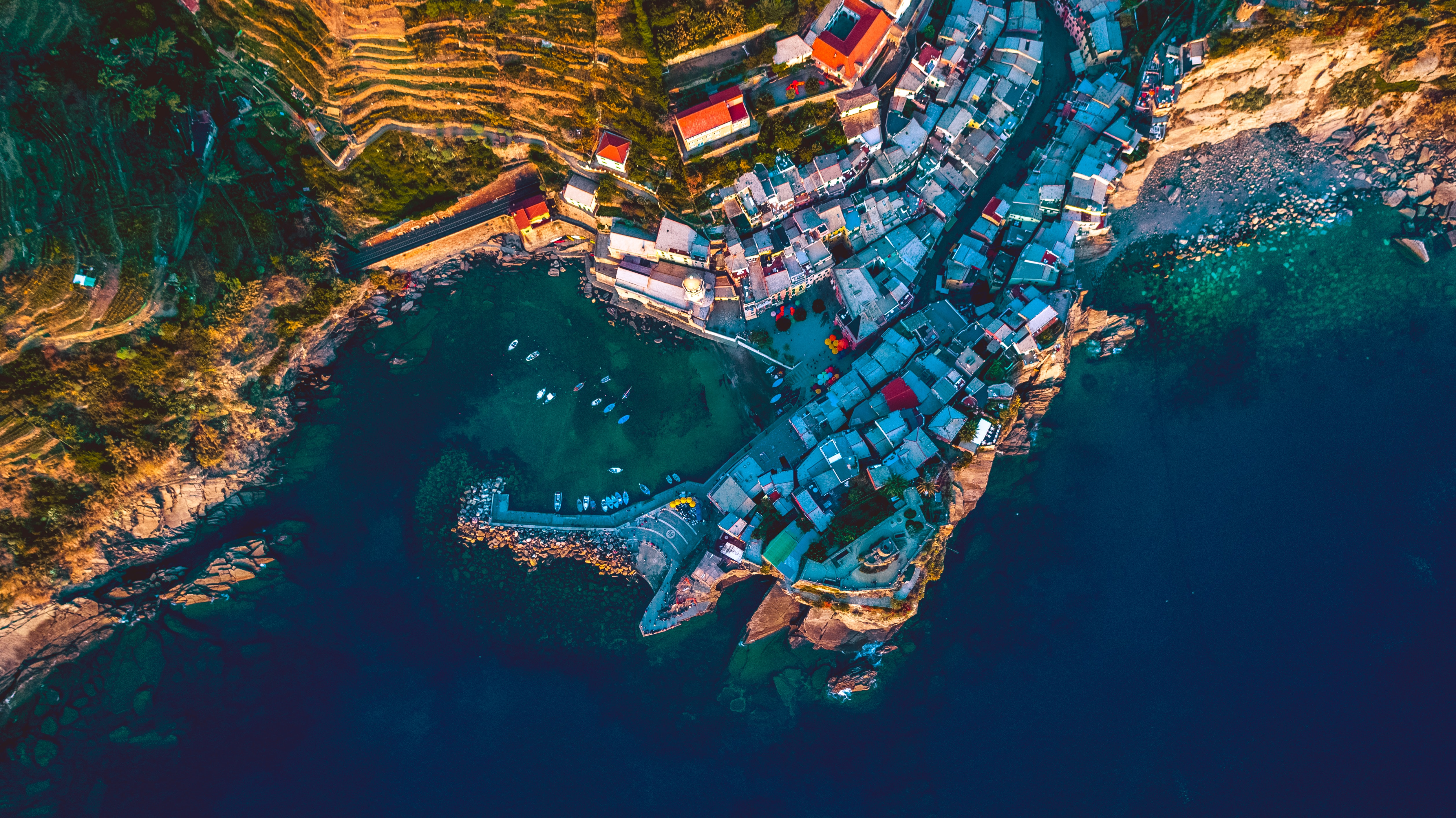 aerial photography of buildings near body of water at daytime