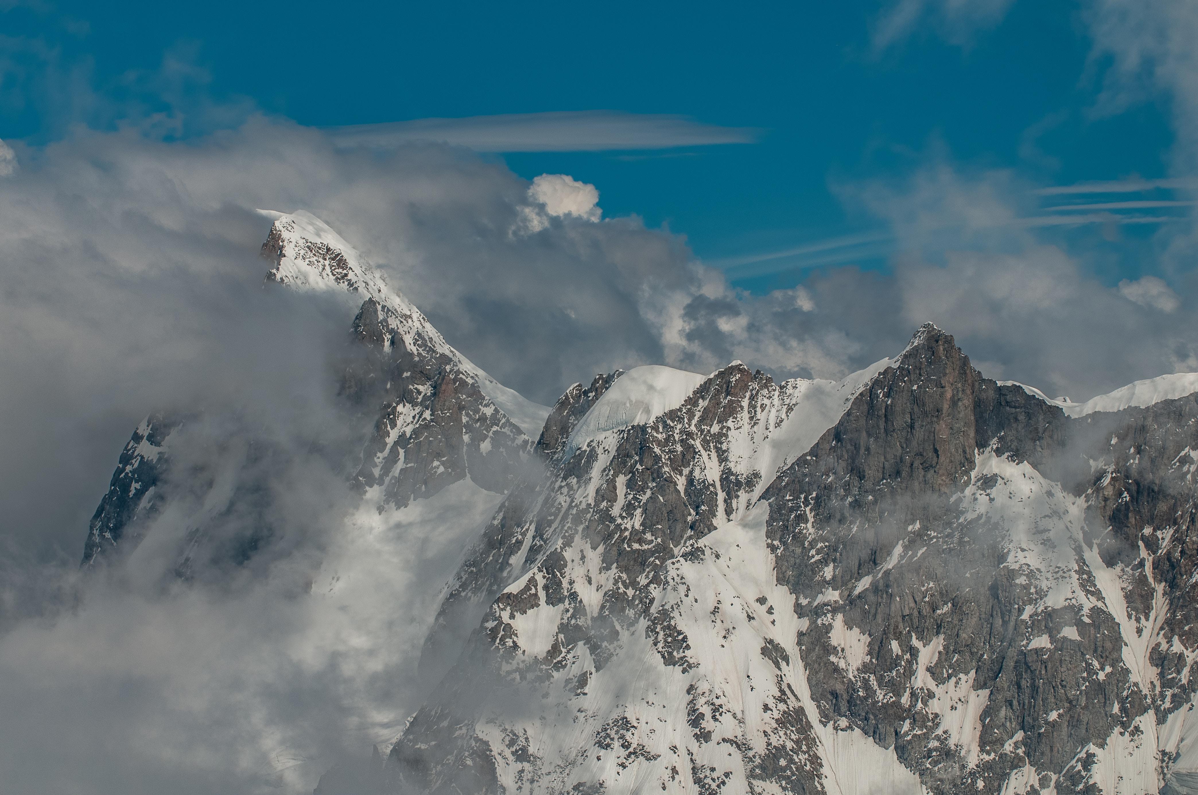snowcap mountain taken at daytime