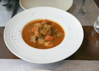 beef stew served on dish