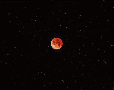 luna eclipse during nighttime lunar teams background