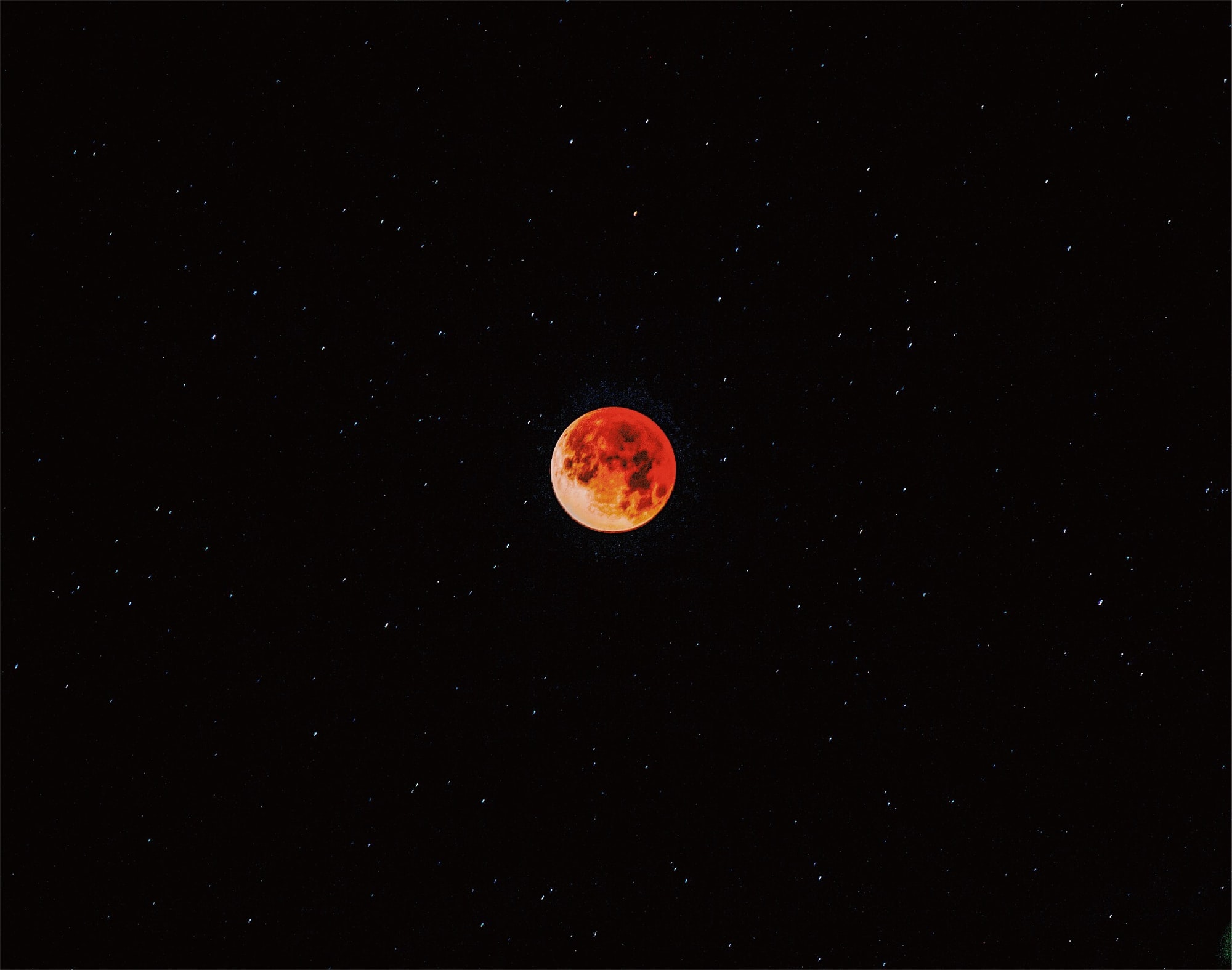 This picture can only be taken every 167 years since it is the blue blood moon. I woke up at 5am and went outside and set up my tripod and captured one of the greatest pictures I have ever taken. My hand was shaking as I set the camera on the tripod. It was like 40 degrees outside and I was literally in my boxers and a shirt. The stars in the background made it even better and the moon was just doggone the most amazing! I felt like I had taken a fake photo because the photo was so unreal.