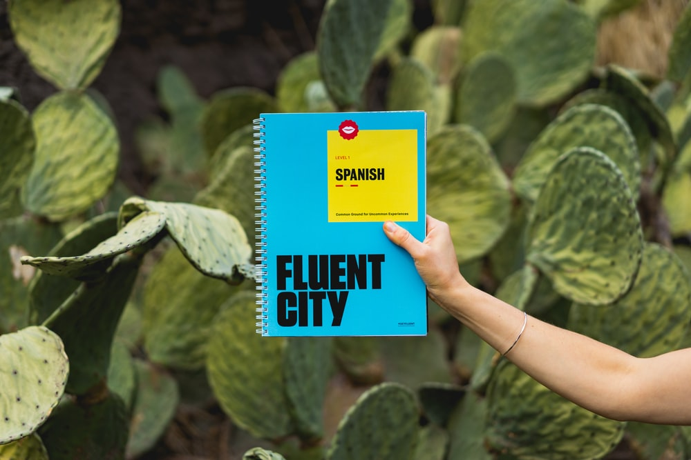 person holding Fluent City book