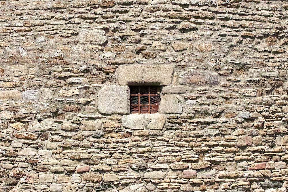 red metal window railo