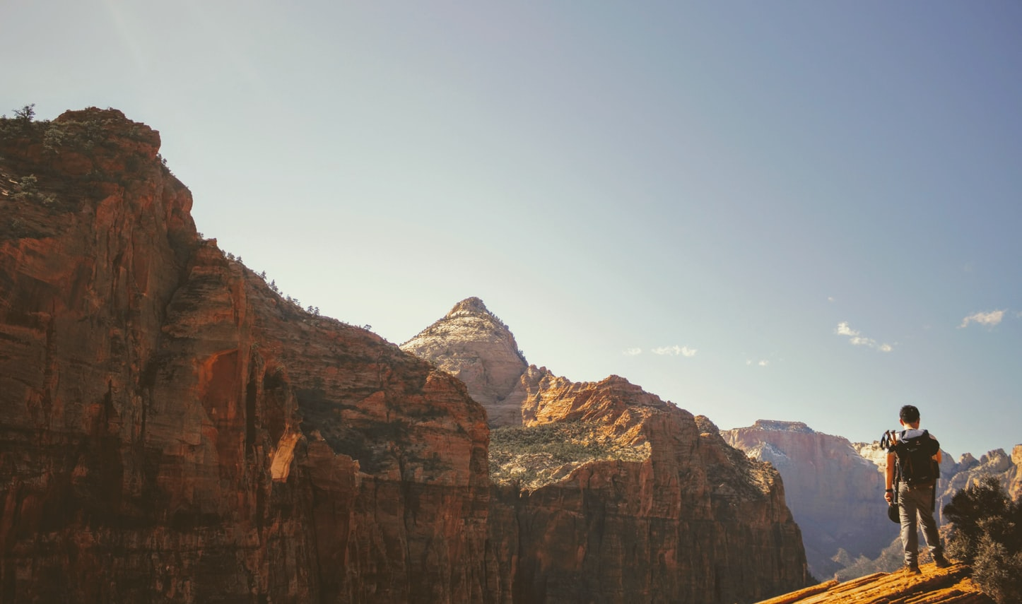 man in the trail of angels landing