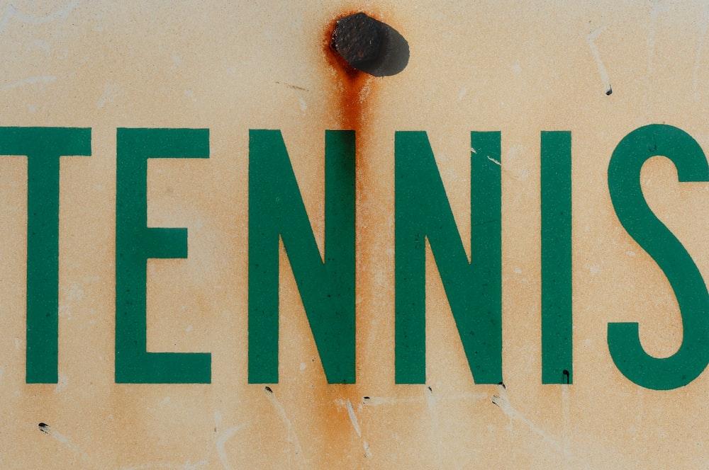 Tennis text