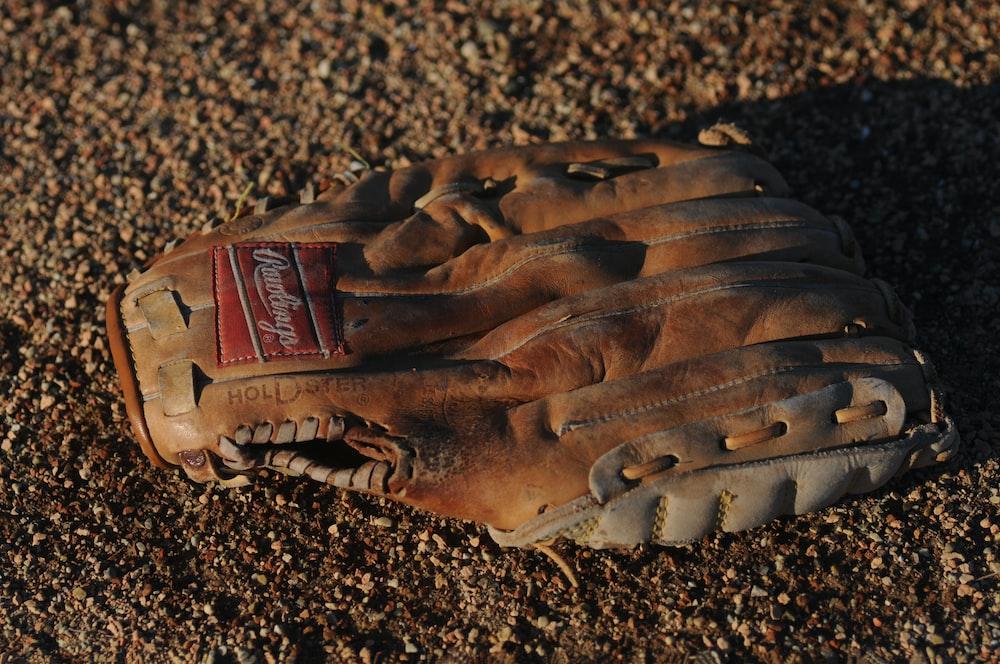brown Remington leather baseball mitt