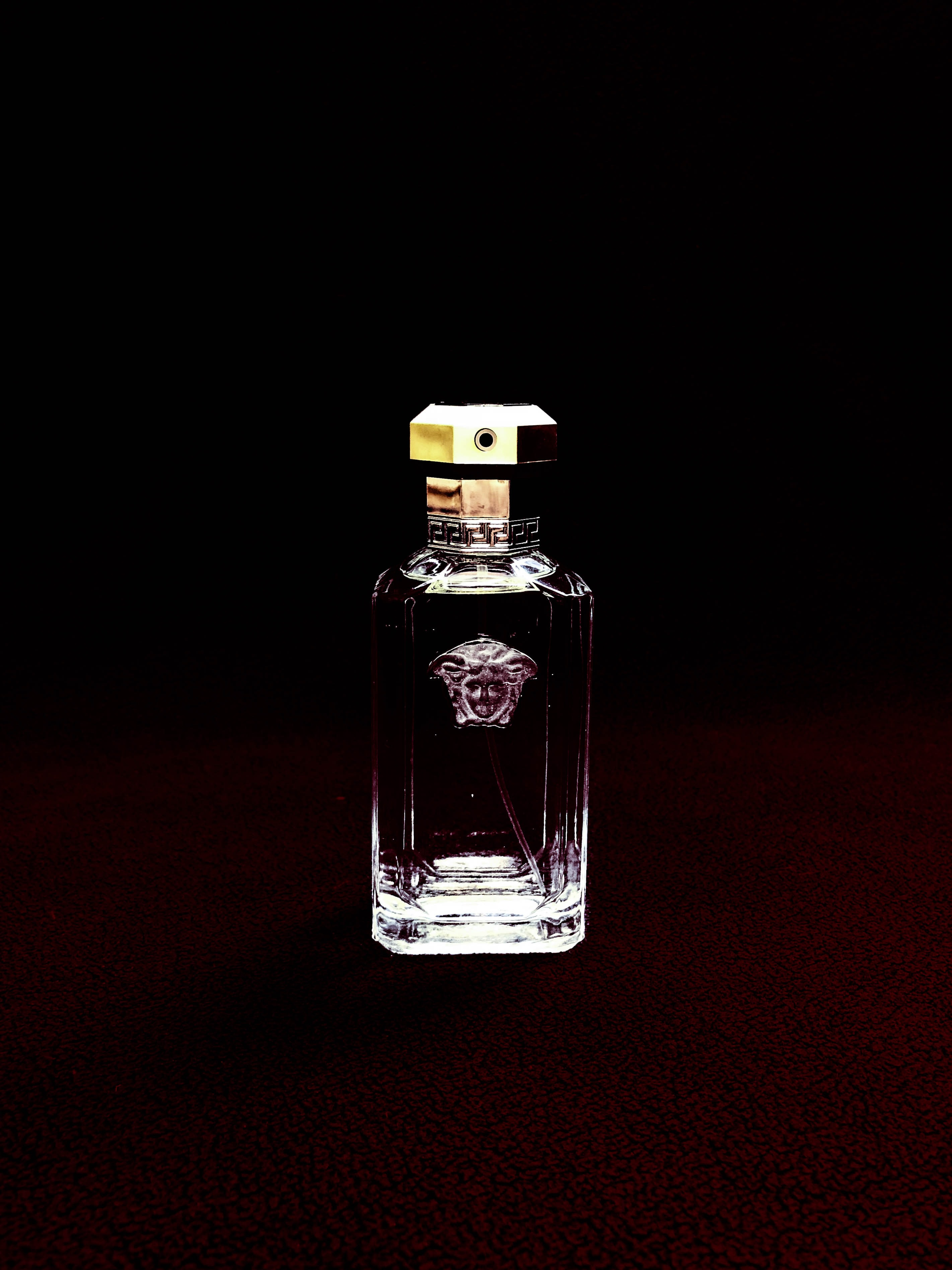 clear Versace glass fragrance bottle