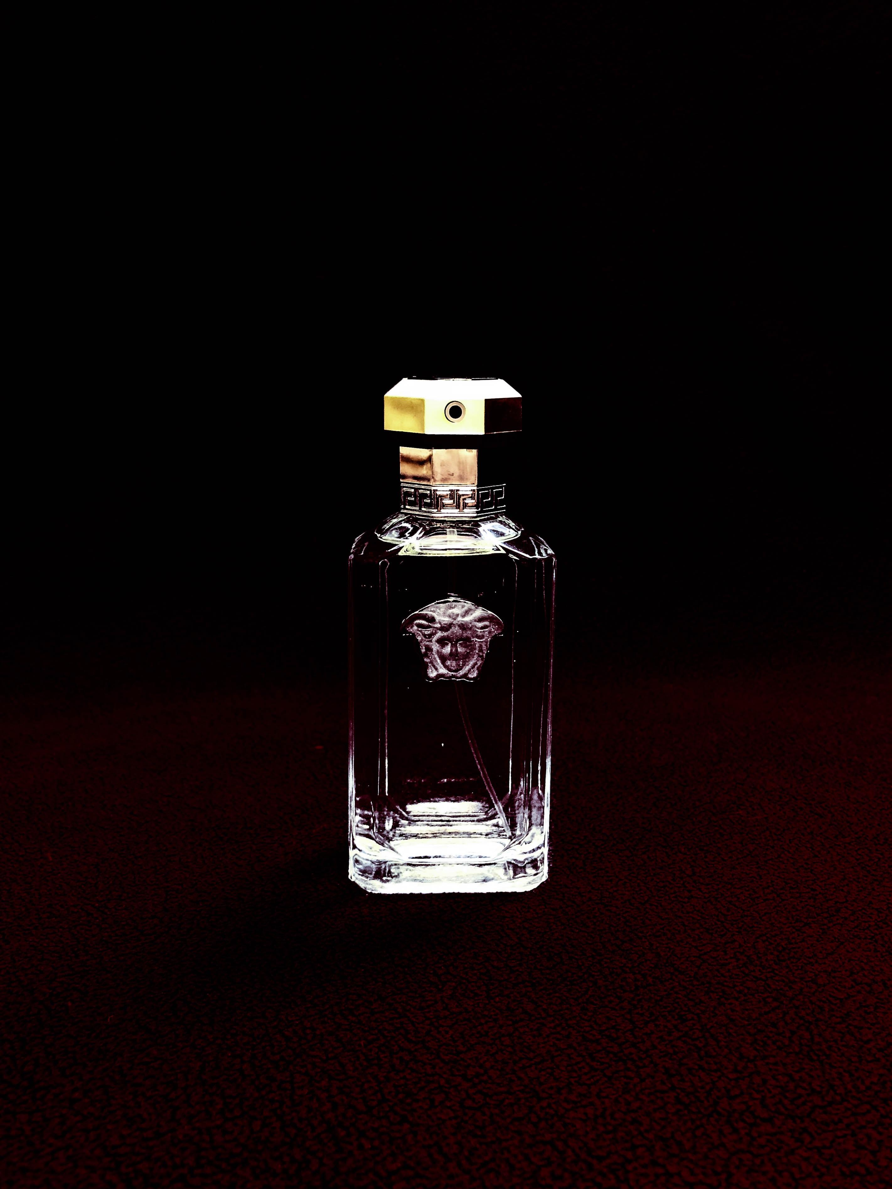 clear Versace glass fragrance bottle