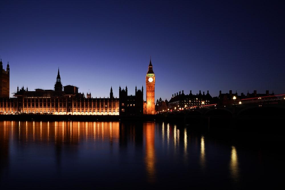 Big Ben's Clock at night