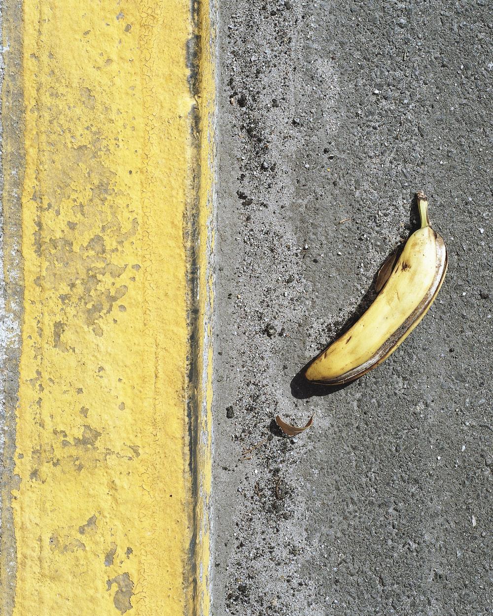 banana peel on the road