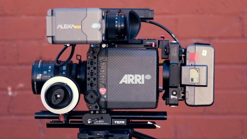 black and gray Arri video camera