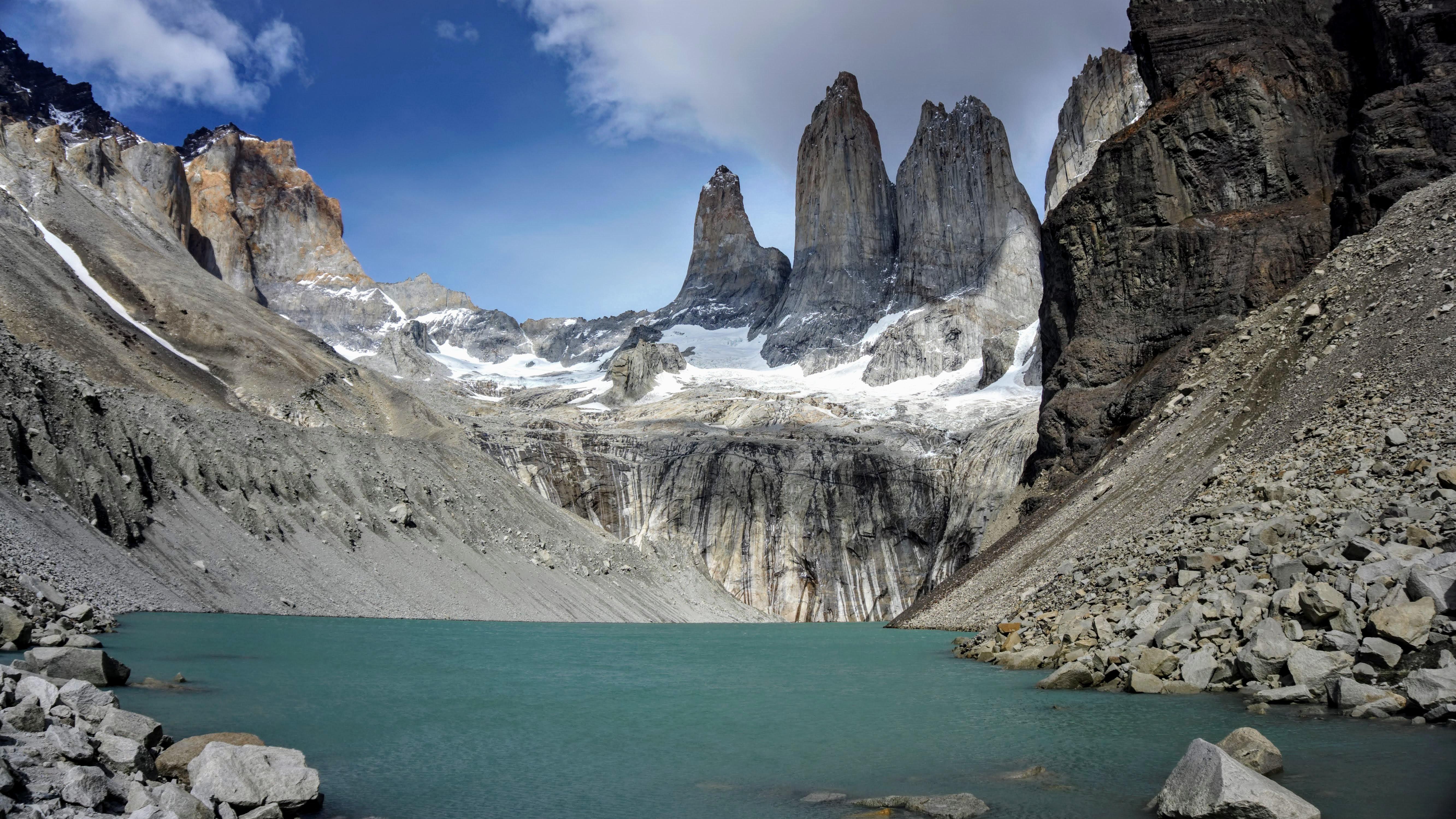 Galciares en Torres del Paine, Sur de Chile