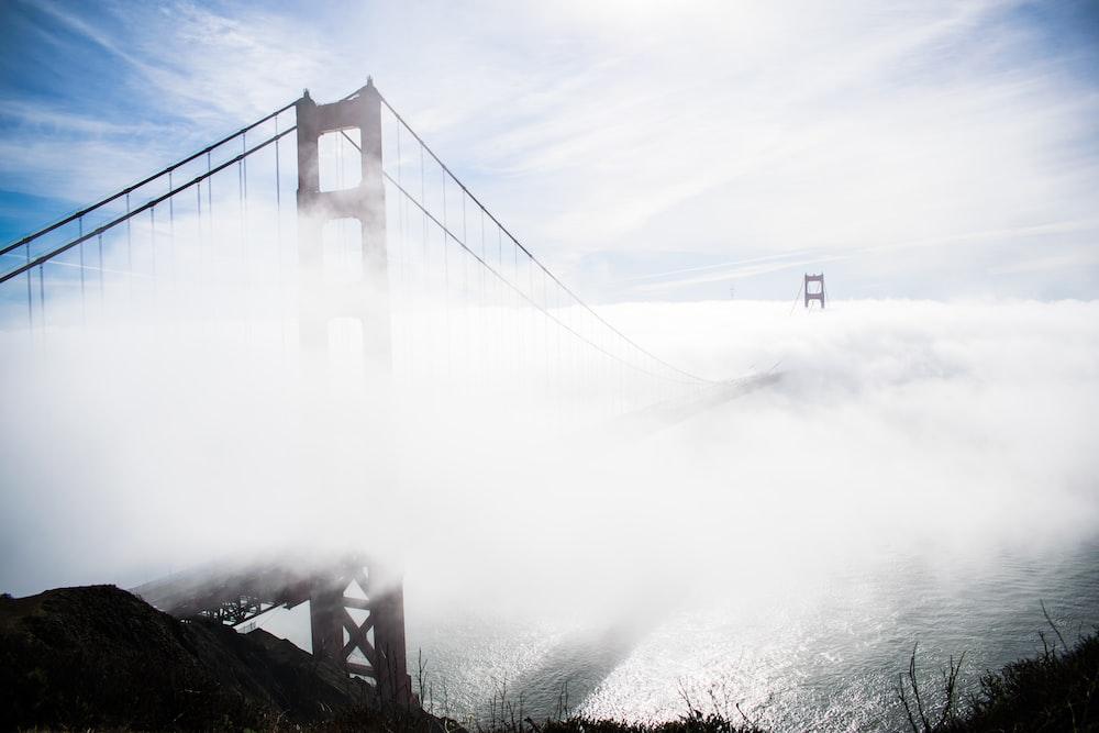 Golden Gate bridge during fog