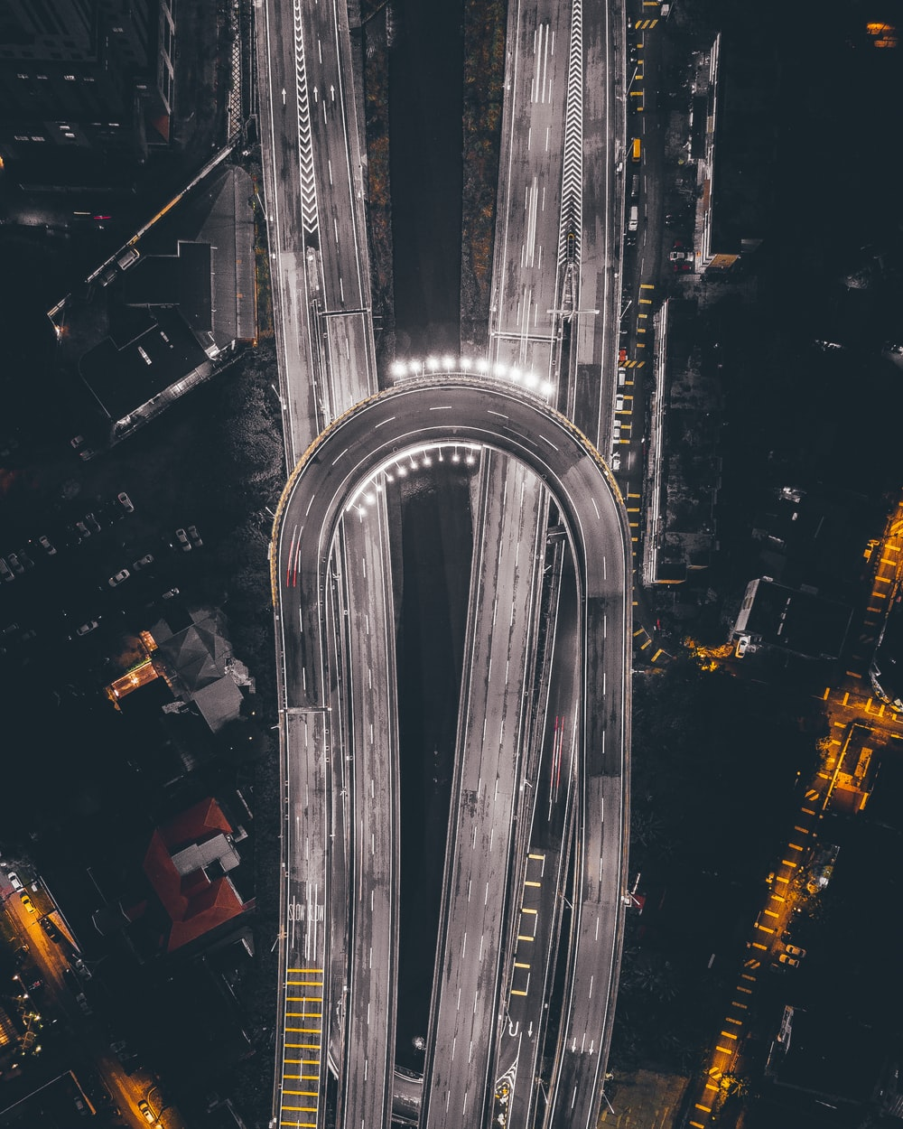 aerial photography of road