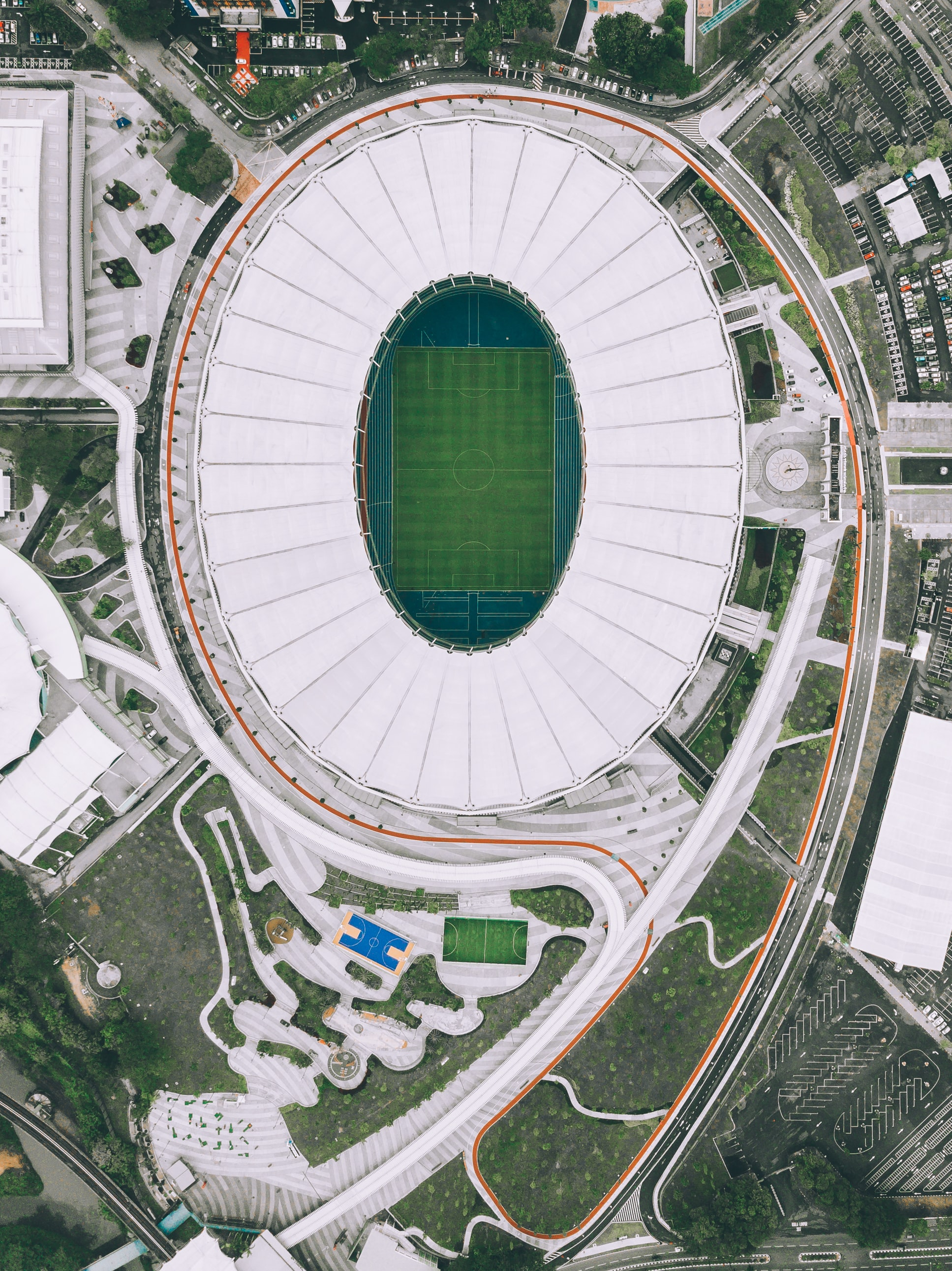 aerial photography of football stadium at daytime