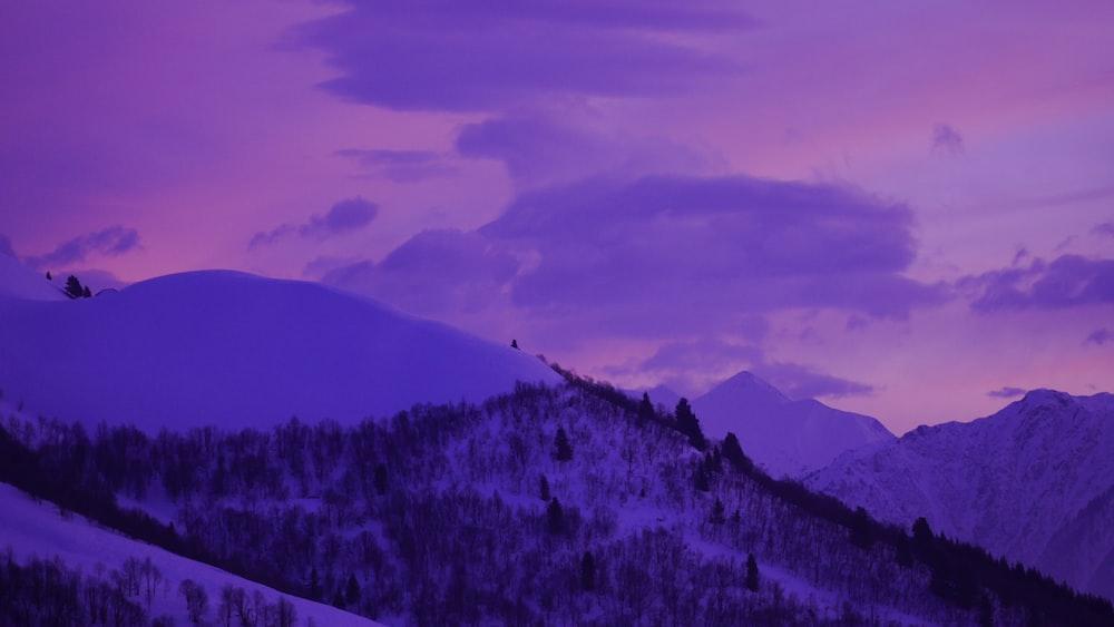 white and gray mountain range
