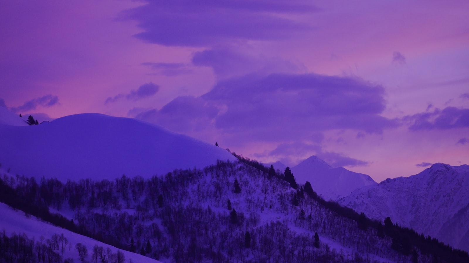 white and gray mountain