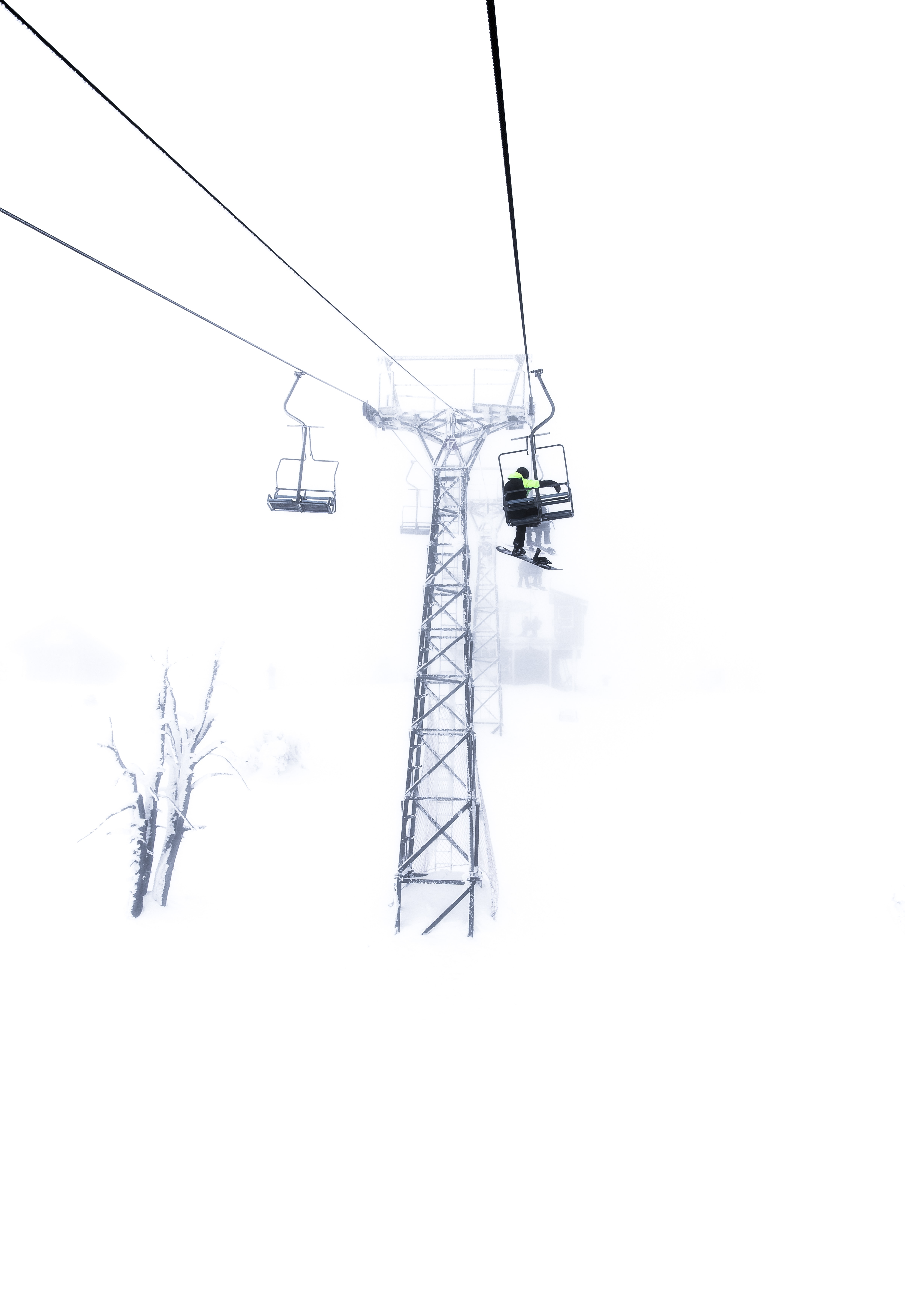 snow lift during daytime