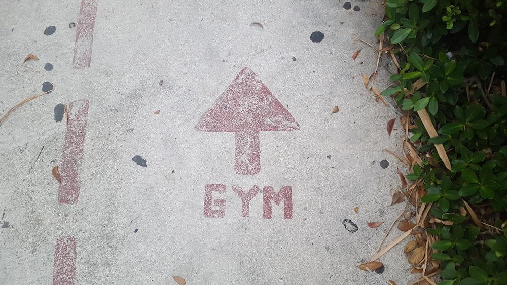 gym road signage